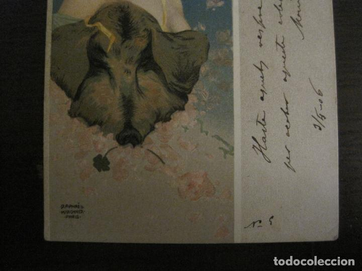 Postales: POSTAL ANTIGUA ILUSTRADA POR RAPHAEL KIRCHNER-REVERSO SIN DIVIDIR-VER FOTOS-(64.433) - Foto 3 - 183702541