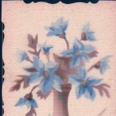 Postales: POSTAL DIBUJO JARRON FLORES AZULES. Lote 183773902
