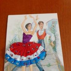 Postales: ANTIGUA POSTAL BORDADA. Lote 184839235