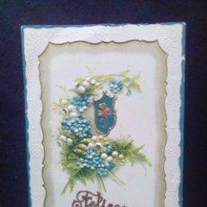 Postales: ANTIGUA POSTAL FELICES PASCUAS TROQUELADA SIN CIRCULAR. Lote 186071875