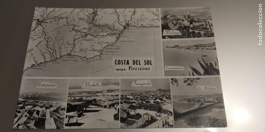 MALAGA COSTA DEL SOL COLECCION MAPAS DE BOLSILLO. FIRESTONE. AÑO 1960. MB1 COSTA DEL SOL (Postales - Postales Temáticas - Especiales)