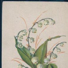 Postales: POSTAL RAMILLETE DE FLORES BLANCAS EN RELIEVE - AMERICANA Y CIRCULADA. Lote 188510065