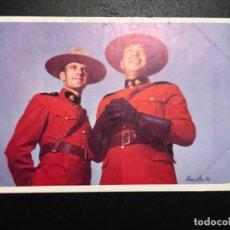 Postales: ANTIGUA POSTAL AMERICAN AIRLINES CANADA FOTO IVAN DIMITRI POLICIA MONTADA DEL CANADA RUTA FLAGSHIPS. Lote 188614127