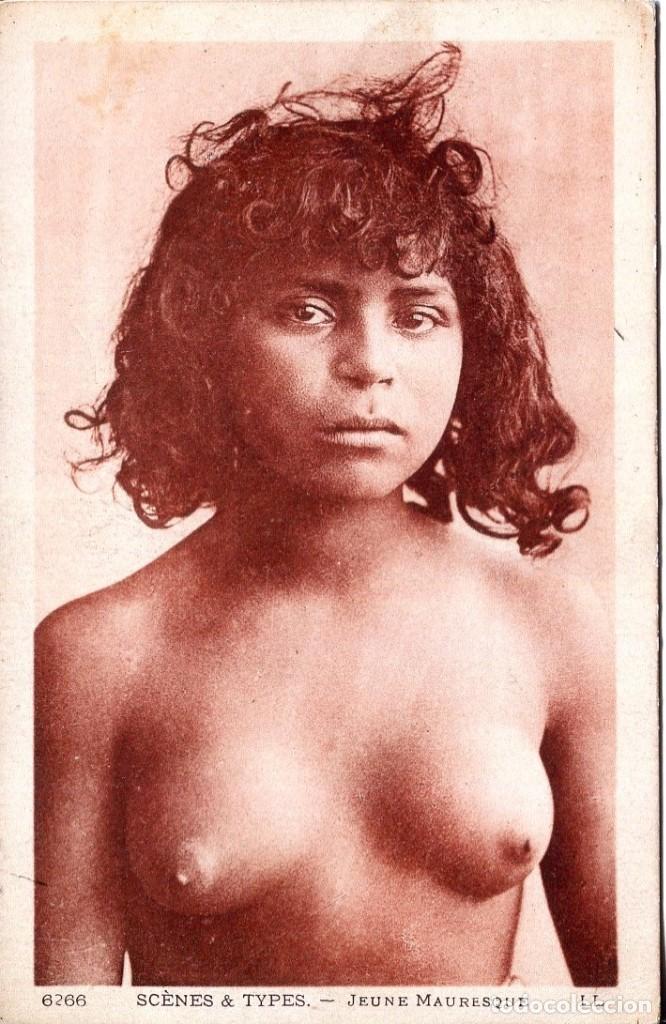 DESNUDO ÉTNICO- JOVEN ÁRABE-ORIGINAL- LEVY PARIS (Postales - Postales Temáticas - Especiales)