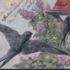 Postales: POSTAL ILUSTRADA GOLONDRINAS - FIRMADA - K F EDITEUR PARIS SERIE 1117 - CIRCULADA. Lote 190202872