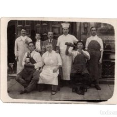 Postales: POSTAL FOTOGRÁFICA. MESONEROS. DETRAS LETRERO. TABERNA.. Lote 190293213
