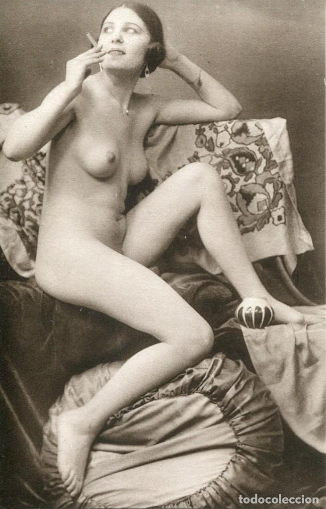 Postales: 3 -TARJETAS POSTALES-DESNUDO MUJER-AÑOS 20- - REPROD. - Foto 2 - 191240502