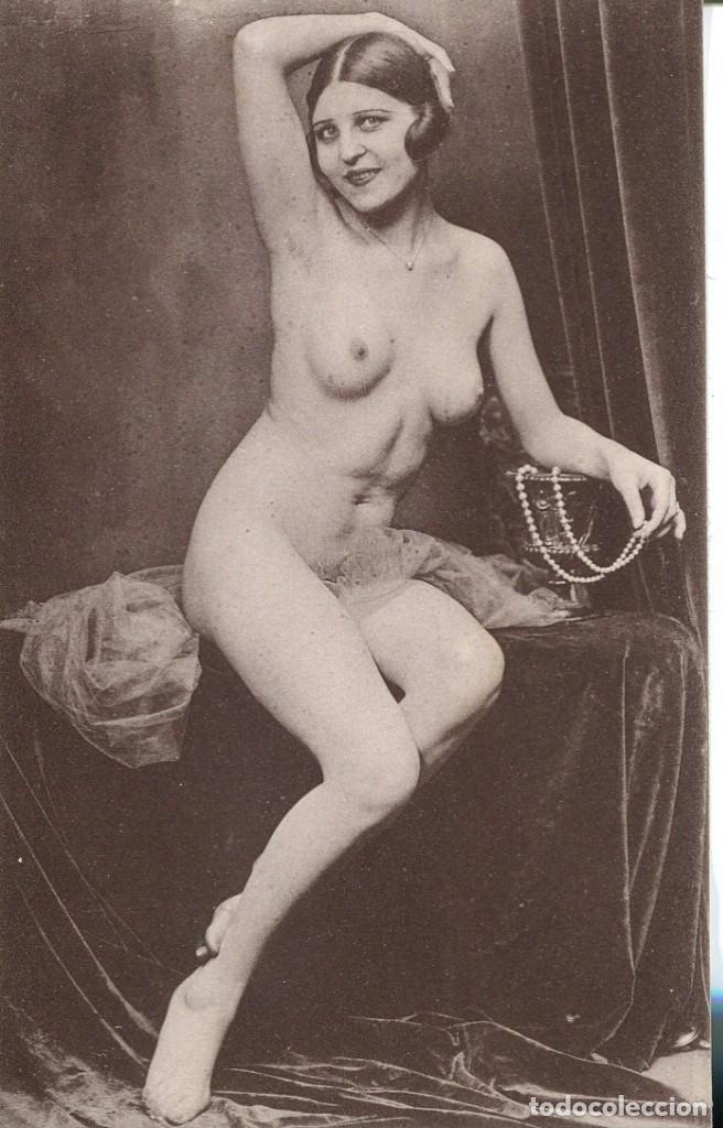Postales: 3 -TARJETAS POSTALES-DESNUDO MUJER-AÑOS 20- - REPROD. - Foto 3 - 191240502