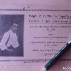 Postales: POSTAL MUY RARA DE FOTOGRAFO ITINERANTE, AÑO 1.928. Lote 192382961