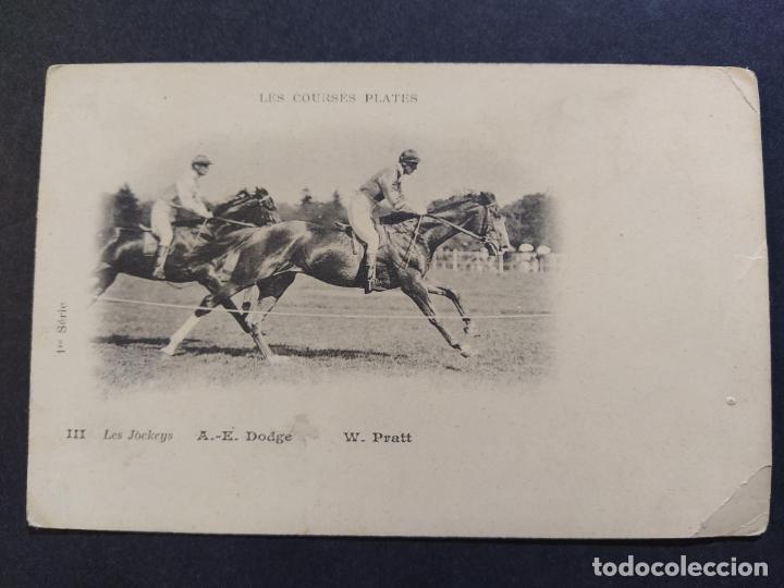Postales: CARRERAS DE CABALLOS-A.E.DODGE & W.PRATT-REVERSO SIN DIVIDIR-POSTAL ANTIGUA-(67.671) - Foto 2 - 194075487