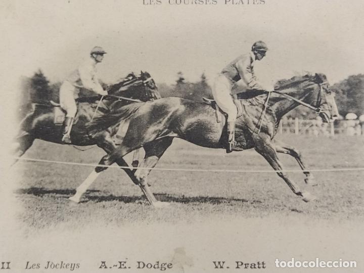 CARRERAS DE CABALLOS-A.E.DODGE & W.PRATT-REVERSO SIN DIVIDIR-POSTAL ANTIGUA-(67.671) (Postales - Postales Temáticas - Especiales)