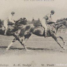 Postales: CARRERAS DE CABALLOS-A.E.DODGE & W.PRATT-REVERSO SIN DIVIDIR-POSTAL ANTIGUA-(67.671). Lote 194075487