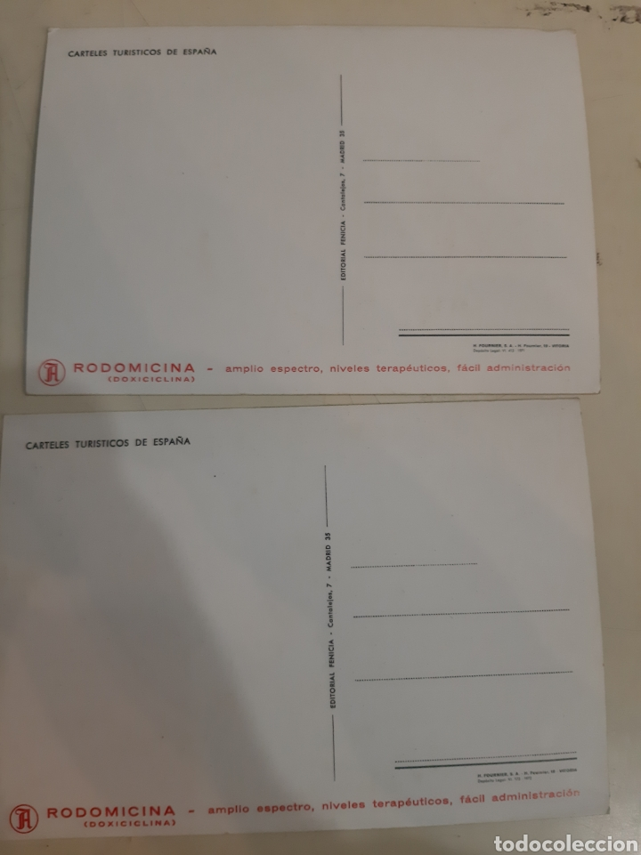 Postales: Medicamento Rodomicina postales publicidad España - Foto 2 - 194262687
