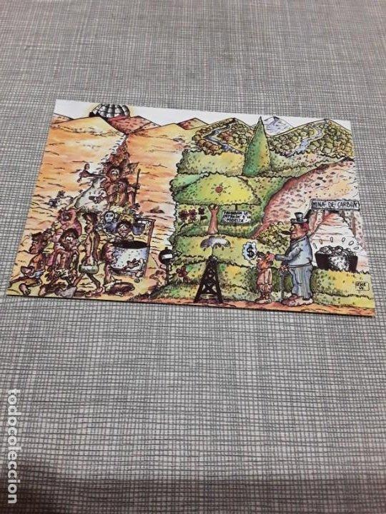 POSTAL CON IMAGEN PINTADA POR NIÑOS DE NACIONES UNIDAD CONTRA EL HAMBRE (Postales - Postales Temáticas - Especiales)
