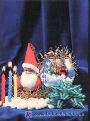 POSTAL EN 3D ( TRIDIMENSIONAL ) - AÑOS 60/70 - PAPA NOEL, NAVIDAD (Postales - Postales Temáticas - Especiales)