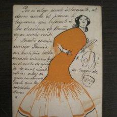 Postales: SPANISCHE MANOLA-ILUSTRADA POR GUZMAN-POSTAL ANTIGUA-(67.926). Lote 194876413