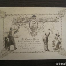 Postales: SINDICATOS OBREROS BARCELONA-PRESO ENRIQUE BORRAS 1915-POSTAL FOTOGRAFICA ANTIGUA-(67.930). Lote 194877663