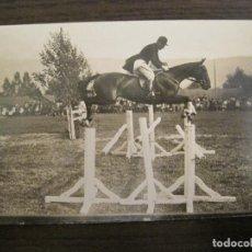 Postales: HIPICA-EQUITACION-CABALLO-POSTAL FOTOGRAFICA ANTIGUA-(67.938). Lote 194879177