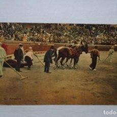 Postales: CORRIDAS DE TOROS , EL ARRASTRE .. Lote 194886910