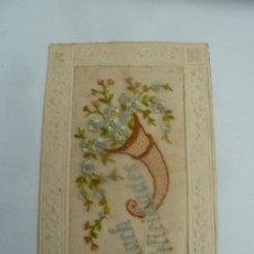 Postales: POSTAL ORIGINAL ANTIGUA CON RELIEVE ESCRITA AL DORSO SIN SELLO. Lote 195102937