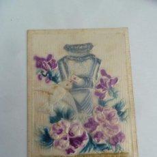 Postales: POSTAL ORIGINAL ANTIGUA CON RELIEVE ESCRITA AL DORSO SIN SELLO. Lote 195102980
