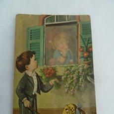 Postales: POSTAL ORIGINAL ANTIGUA CON RELIEVE Y FIGURA MOVIL SIN ESCRIBIR. Lote 195103197