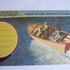 Postales: ACORDEON 7 POSTALES CUBA - PARQUE NACIONAL PENINSULA DE ZAPATA - PEQUEÑO MAPA. Lote 195188717