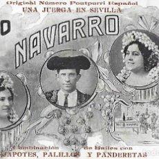 Postales: POSTAL TRIO NAVARRO. ORIGINAL NÚMERO POUTPURRI ESPAÑOL UNA JUERGA EN SEVILLA.. Lote 195265073