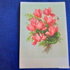Postales: POSTAL ANTIGUA DE FLORES. RAMO DE GLADIOLOS.. Lote 195525321