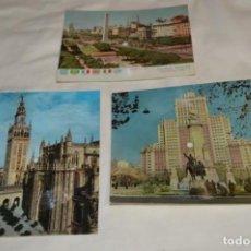Postales: 3 POSTALES SONORAS - FONOSCOPE / FONOGRAF Y CARTÓN MÉLODY - AÑOS 60 - VINTAGE - ¡MIRA!. Lote 195751392