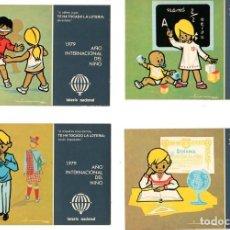 Postales: AÑO INTERNACIONAL DEL NIÑO 1979 COLECCIÓN 12 POSTALES. Lote 197715820