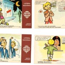 Postales: LOTERIA NACIONAL COLECCIÓN 12 POSTALES NUEVOS REFRANES. Lote 197838255