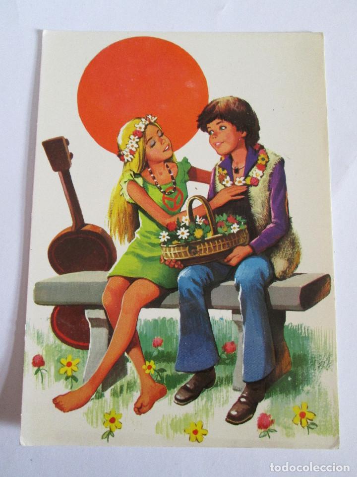 POSTAL PAREJA ROMANTICA - 1973 - PERLA 130 /2 (Postales - Postales Temáticas - Especiales)
