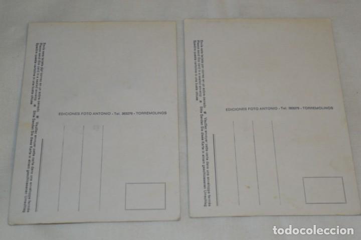 Postales: 2 POSTALES BORDADAS EN HILO - RAMOS de FLORES - Sin circular - Original -- ¡Mira! - Foto 4 - 198609602