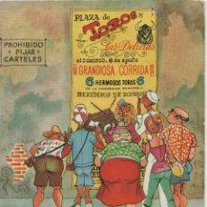 Postales: LOTE C- POSTAL HUMOR TOROS MATA SELLOS PALMA MALLORCA 1963 SELLOS EL CID DIFICILES SOBRE POSTAL. Lote 198611197