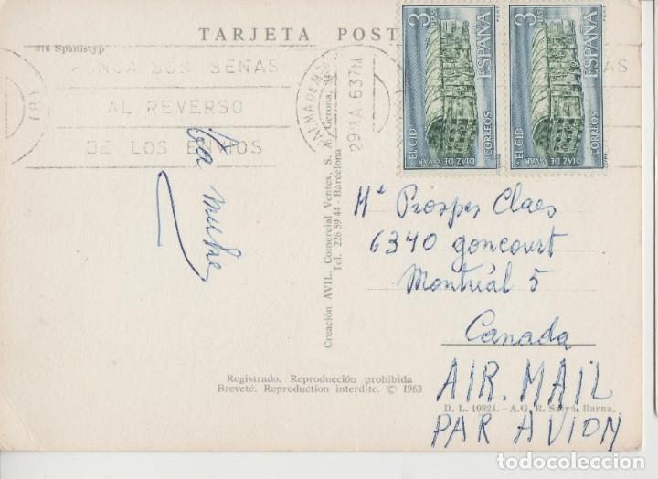Postales: LOTE C- POSTAL HUMOR TOROS MATA SELLOS PALMA MALLORCA 1963 SELLOS EL CID DIFICILES SOBRE POSTAL - Foto 2 - 198611197