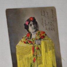 Postales: ANTIGUA POSTAL / PRINCIPIOS 1900 / BORDADAS EN HILO - TRAJE TÍPICO - CIRCULADA - ORIGINAL ¡MIRA!. Lote 198611652