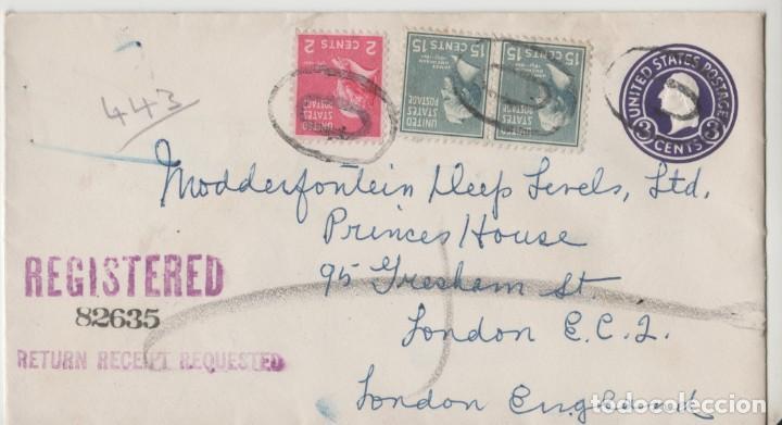 LOTE C- SOBRE CERTIFICADO SELLOS ESTADOS UNIDOS PASADENA CALIFORNIA NEW YORK 1950 (Postales - Postales Temáticas - Especiales)