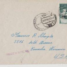 Postales: LOTE C- SOBRE MATA SELLOS MELILLA 1956. Lote 198611902