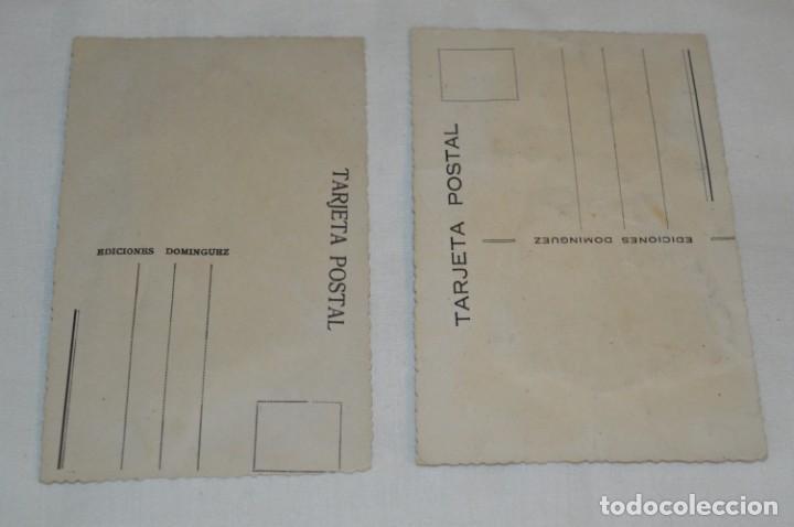 Postales: 2 Antiguas POSTALES / Asturias / BORDADAS EN HILO - Traje típico - SIN CIRCULAR - Original ¡Mira! - Foto 2 - 198612352