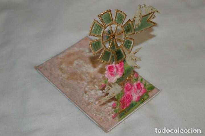 Postales: Antigua postal / De CELULOIDE y desplegable - Original ¡Mira todas las fotografías, muy rara! - Foto 3 - 198641380