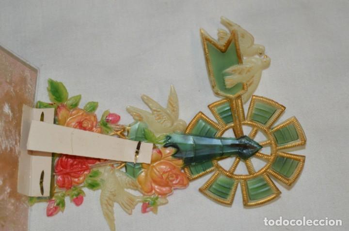 Postales: Antigua postal / De CELULOIDE y desplegable - Original ¡Mira todas las fotografías, muy rara! - Foto 5 - 198641380