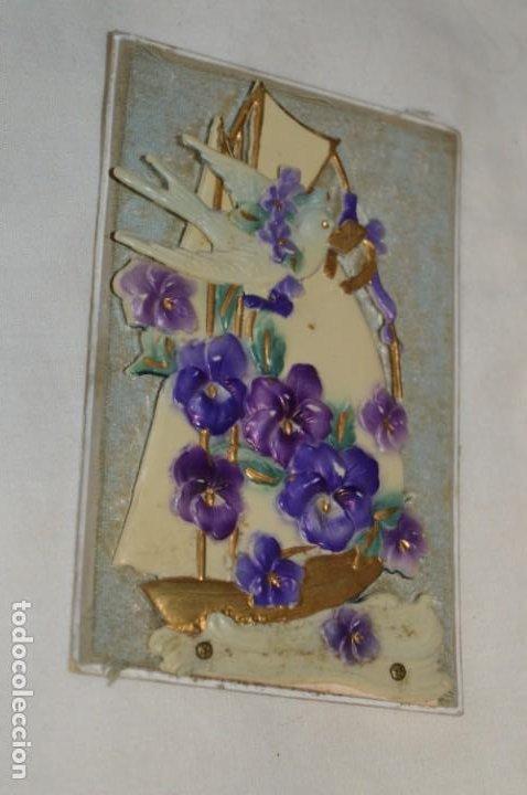 Postales: Antigua postal / De CELULOIDE y desplegable - Original ¡Mira todas las fotografías, muy rara! - Foto 2 - 198643638