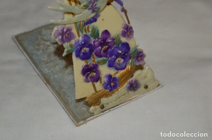 Postales: Antigua postal / De CELULOIDE y desplegable - Original ¡Mira todas las fotografías, muy rara! - Foto 5 - 198643638
