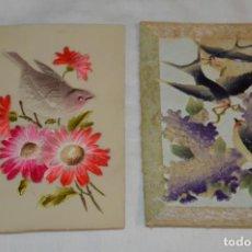 Postales: 2 ANTIGUAS POSTALES / DE CELULOIDE - ORIGINALES ¡MIRA TODAS LAS FOTOGRAFÍAS, MUY RARAS!. Lote 198646057