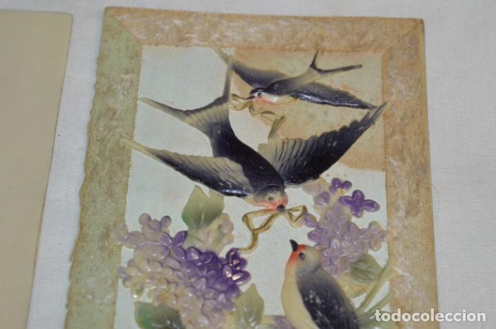 Postales: 2 Antiguas postales / De CELULOIDE - Originales ¡Mira todas las fotografías, muy raras! - Foto 3 - 198646057