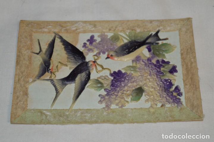 Postales: 2 Antiguas postales / De CELULOIDE - Originales ¡Mira todas las fotografías, muy raras! - Foto 4 - 198646057