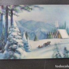 Postales: PAISAJE INVERNAL POSTAL 3D 3 DIMENSIONES. Lote 199272645