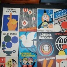 Postales: LOTES TARJETAS LOTERÍA NACIONAL 10 COLECCIONES DE 12 POSTALES CADA. Lote 199285706