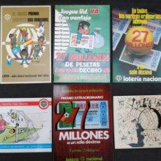 Cartes Postales: LOTE DE 6 POSTALES LOTERÍA NACIONAL. Lote 199288602